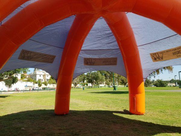 אוהל מתנפח להשכרה