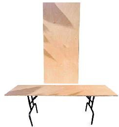 השכרת שולחנות עץ 180X60