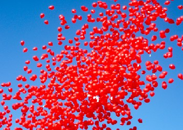 100 בלון אדום
